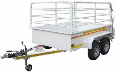2.4m 1 ton Flatdeck Tandem with rails and brakes