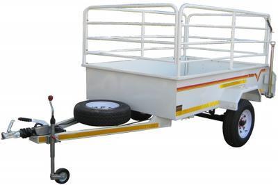 2.4m 1 Ton Flatdeck (rails+brake)